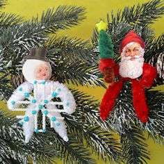 How to make Vintage Chenille Dolls from http://www.vintageimagecraft.com/christmas-chenille-doll.html