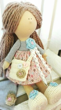 Rag Dolls, Handmade Dolls, Hand Sewn, Crochet Hats, Teddy Bear, Sewing, Toys, Board, Animals