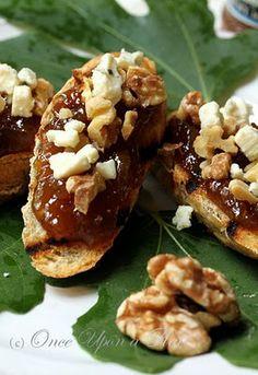 Fig ~blue cheese~walnut ~ crostini