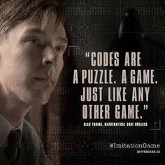 Benedict Cumberbatch as Alan Turing in The ImitationGame Alan Turing, The Imitation Game Movie, Bletchley Park, Mrs Hudson, Cinema, Benedict Cumberbatch Sherlock, Sherlock Quotes, About Time Movie, Great Movies
