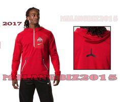 Nike 2017 Men's Large Ohio State Alpha Fly Rush Jacket 1/4 Zip Red Football NCAA #Nike #OhioStateBuckeyes