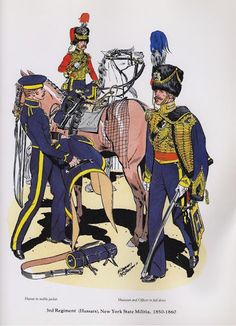 PLATES- CMH: 3rd Regiment (Hussars), New York State Militia, 1850-1860, by H. Charles McBarron, Jr.