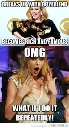 No offence to those of you who love Taylor Swift, but you have to admit shes done that A LOT! lol