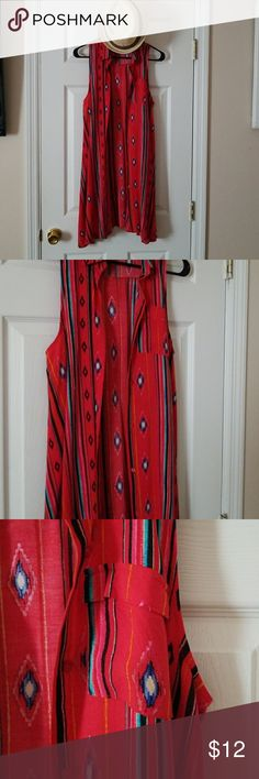 BONGO BUTTON UP DRESS OR JACKET! AZTEC RED BONGO BUTTON UP DRESS OR JACKET! AZTEC RED BONGO Dresses
