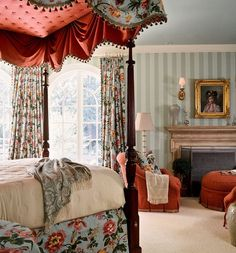 Beautiful Bedroom Designs, Beautiful Bedrooms, English Bedroom, Interior Styling, Interior Design, English Country Style, Traditional Bedroom, Gorgeous Fabrics, Dream Bedroom