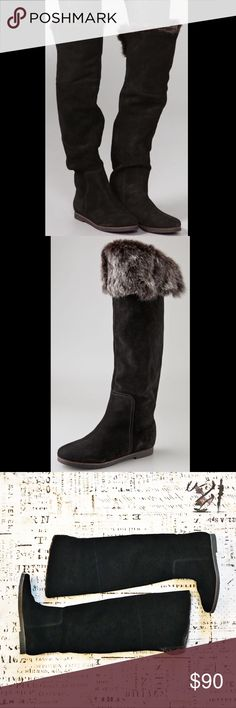 "Sam Edelman Orlando Over Knee Suede Faux Fur Boots These boots by Sam Edelman are absolutely stunning! Wear two ways - over the knee with upper faux fur lining for added warmth, or with faux fur folded down for an adorable alternative style. Style is called ""Orlando"" - entire exterior is suede. Gorgeous boots in impeccable condition. Sam Edelman Shoes Over the Knee Boots"