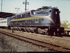 Restored GG1 4935 power NRHS excusion to Strasburg RR at Lancaster, Pennsylvania, 29 October, 1978.