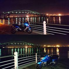 Instagram【anma883】さんの写真をピンしています。 《#osaka #大阪 #大阪市内 #此花区 #舞洲 #港湾 #工場夜景 #夜景 #深夜 #大阪湾 #夜の海 #潮風が気持ちいい #ナイツー #ビーエムダブリュー #bmwc600sport #bmw #bmwmotorrad #motorcycles #midnight #bike #biker #オートバイのある風景 #バイクのある風景 #バイク #癒しの時間 #好きな場所》