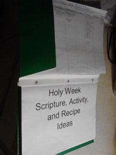 Holy Week Activity Booklet