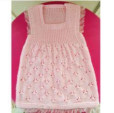 Ajurlu Dantel Süslemeli Çocuk Jile Tarifi. Easy Knitting Patterns, Knitting For Kids, Baby Patterns, Dress Patterns, Baby Knitting, Crochet Baby, Knit Baby Dress, Knitted Baby Clothes, Baby Cardigan