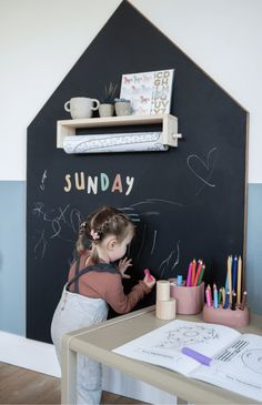 We have been lucky enough to partner with Ferne McCann to design and makeover Sunday's Playroom. Ferne wanted a pared back but fun room with pops colour using teal and pink and elements of rattan in the accessories. We included plenty of wooden toys to spark Sunday's imagination and ensure the Playroom was played in often.    #playroomideas #chalkboardwall Alphabet Nursery, Animal Nursery, Magnetic Chalkboard Paint, Girl Room, Baby Room, Half Painted Walls, Ferne Mccann, Playroom Decor, Dining Room Playroom Combo
