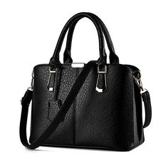 de43c86d0cdc MoralBelief Women PU Leather Handbag Fashion Classic Shoulder Bags (Black)  Crossbody Bags