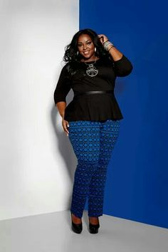 Ashley Stewart....I love those pants I...come hither & get in my closet:)