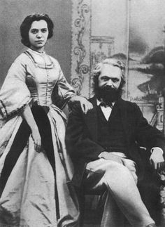 Karl Marx and his wife, Jenny, 1866