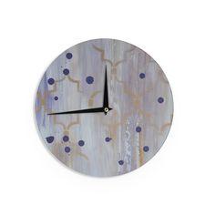 Kess InHouse Robin Dickinson 'Grapesiscle' Wall Clock