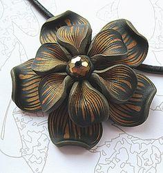 Carol Capaldi polymer flower