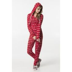 Red Kiss Me printed hooded flannel onesie - Medium Hooded Flannel, Kiss Me, Hoods, Onesies, Girl Outfits, Printed, Medium, Red, Inspiration