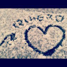 Mensaje en la nieve