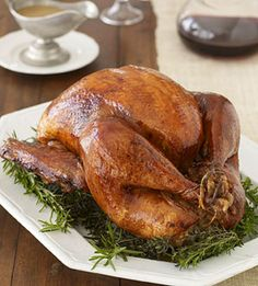 Michael Tyrrell's Mahogany Roast Turkey from Family Circle. #turkeyrecipe #thanksgiving #turkey