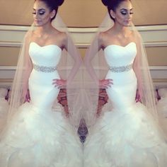 Aliexpress.com : Buy Vestidos De Novia Mermaid Wedding Gown Off the Shoulder Beaded Tiered Ruffles Sexy Wedding Dress Dresses Robe De Mariage from Reliable dress bling suppliers on idodress  | Alibaba Group