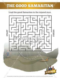 The good samaritan bible mazes can your kids lead the for Good samaritan crafts for sunday school