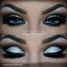 Glitter, cut crease, glamorous, Hollywood