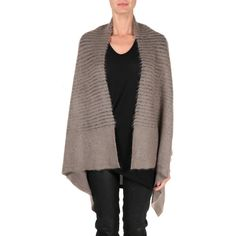 Rick Owens Mixed mohair cardigan ($1,102) ❤ liked on Polyvore featuring tops, cardigans, neutro, long sleeve cardigan, over sized cardigan, rick owens, cardigan top and oversized cardigan
