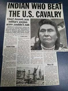 CHIEF JOSEPH - INDIAN WHO BEAT THE U.S. CAVALRY