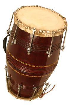 Dholak hand drum, two heads, this one is bolt tuned... and mine ;)