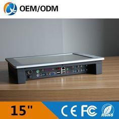 15 ''embeded panneau pc tactile écran résolution 1024x768 panel pc/ordinateur industriel avec Intel D525 1.8 GHz 2 GB DDR3 32G SSD