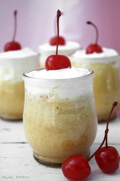 Tres Leches - A popular Latin American dessert.  It's a cake soaked in three types of milk (evaporated, condensed and whole milk).  You'll probably gain weight after this one... =)