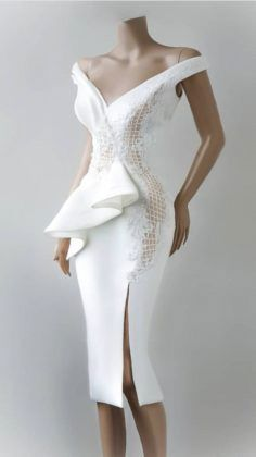 Styles Inspiration: All the Styles from White Cloth - Ways to Wear Them - Beradiva African Fashion Dresses, African Dress, Short Dresses, Prom Dresses, Formal Dresses, Lace Dress, White Dress, Dress Outfits, Fashion Outfits