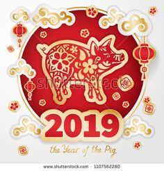 Chinese New Year 2019 Pig Animal Chinese New Year 2019 Pig Animal
