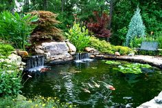 Animate your Landscape with Waterfalls, Koi Ponds, Aquatic Gardens | http://www.designrulz.com/design/2014/09/animate-landscape-waterfalls-koi-ponds-aquatic-gardens/