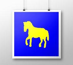 "Art print ""Yellow horse"" by eliso ignacio silva simancas"