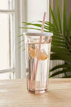 Working Glass Lidded Sipper from Urban Outfitters. Saved to Epic Wishlist. Shop more products from Urban Outfitters on Wanelo. Kitchen Pantry Design, Diy Kitchen Storage, Apartment Essentials, Kitchenware, Tableware, Dinnerware Sets, Cute Food, Kitchen Accessories, Kitchen Dining