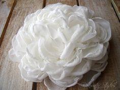 Ivory Peony Hair Flower Wedding Hair Flower by RainwaterStudios, $18.00