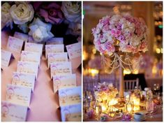 Beverly Hills Hotel Wedding by John and Joseph Photography   Details Details - Wedding and Event Planning, paper goods, escort cards, centerpieces, pink, roses, candles, elegant, pretty Wedding White, Gold Wedding, Wedding Flowers, Dream Wedding, Decor Wedding, Hotel Wedding, Wedding Decorations, Floral Centerpieces, Wedding Centerpieces
