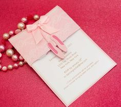 Handmade Ballet Invitation with Ballet Shoes by EmbellishedPaper