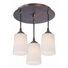 Design Classics Lighting Modern Semi-Flushmount Ceiling Light with White Glass in Bronze Finish   579-220 GL1027   Destination Lighting