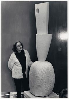 Barbara Hepworth  Three Forms Vertical (Offering), White marble, 1967