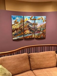 Startup Office Decoration Alpine Passage, mixed media landscape painting by Joel Masewich Corporate Office Decor, Startup Office, Cedar Hedge, Headboard Art, Office Christmas Decorations, Landscaping With Rocks, Transitional Decor, Canadian Artists, Contemporary Decor
