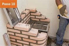 CONSTRUTORA SOUSA: Churrasqueira de tijolos, em 22 passos. Barbecue, Texture, Wood, Green, Projects, Crafts, Masonry Bbq, Bricks, Cookers