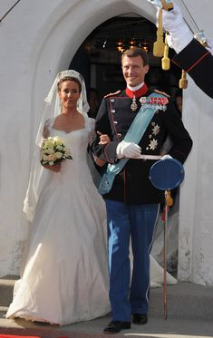 Prince Joachim of Denmark and Princess Marie of Denmark, Countess of Monpezat, depart after they got married at the Mogeltonder church on May 24, 2008 in Mogeltonder, Denmark. (Getty Images/Getty Images Europe)