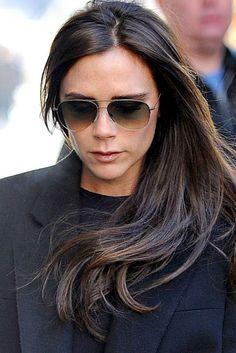 Victoria Beckham With Sleek Long Hair