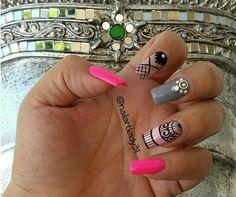 Uñas My Nails, Nail Art, Nail Design, Stickers, Short Nails, Pedicures, Nail Designs, Cornrows, Glasses