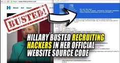 Source code has been found in Hillary Clinton's official website that directly…