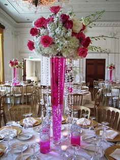 wedding centerpieces tall vases with flowers