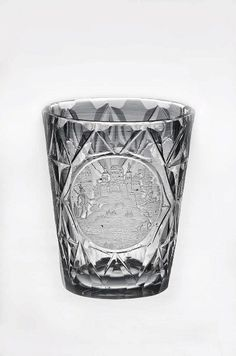 Europe, drinking glass, cut and engraved, 18th c, side 3