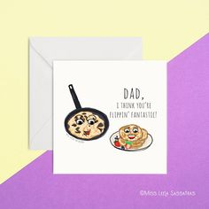Dad, I think you're flippin' fantastic! Card Perfect for Father's Day or Dad's birthday. Blank inside for your message. Designed and printed by MissLeelaSassafras. Made in Ireland. Dad Birthday, Your Message, Fathers Day, Ireland, Dads, Messages, Printed, How To Make, Design